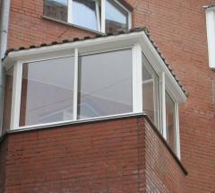Установка крыши на балкон или лоджию в комплексе с