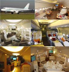 Бизнес перевозки на самолетах с VIP-салоном...