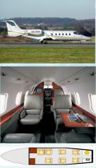 Rent of the Learjet 60 aircraf