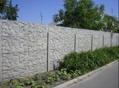 Installation of reinforced concrete decorative