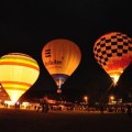 Flight in the balloon over picturesque open spaces
