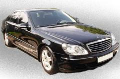 Car rental without driver of Mercedes W220