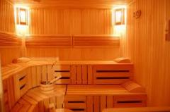 Construction of saunas, turnkey baths.