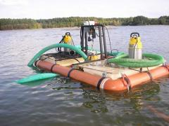Manual pass the dredge, rent of the dredge in