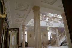 Services of facing of interiors