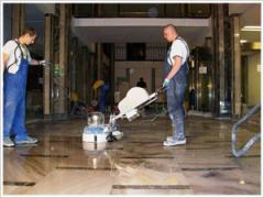Polishing of floors and walls