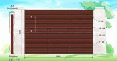 Production of fences and sektsiy:iz a shtaketnik