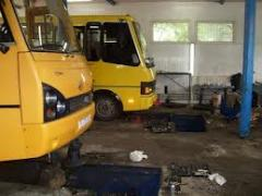 Repair of undercarriage, engine, electrical equipment, fuel system