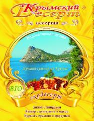 """Packing of foodstuff TM """"Crimean Desser"""