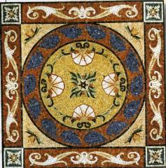 Укладка напольных покрытий мозаикой из мрамора, Тернополь