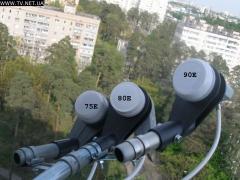 Установка спутниковых антенн в Краматорске.