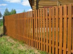 Забор, штакетник из дерева