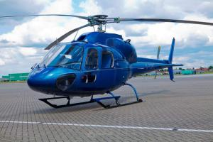 Helicopter transfer between the airports of Kiev