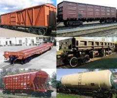 Transportations are container. A rail and