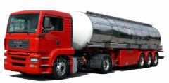 Transportation of goods in automobile tanks,