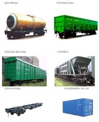 Giving of a rolling stock for loading, leasing of