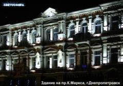 Подсветка фасадов.