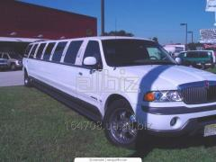Hire, rent of limousines