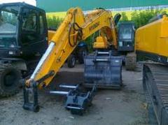Repair of caterpillar and wheel excavators