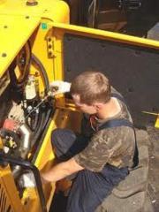 Repair of special equipment of Atlas Liebherr