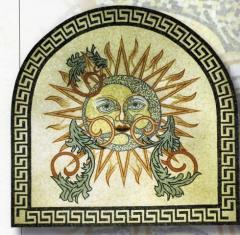 Укладка мозаикой фасадов зданий, мозаичное