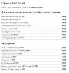 Гормоны и гормональные анализы СИНЭВО, Каменец-Подольский, Хмельницкая область, Украина