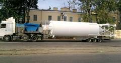 Перевозка негабаритных грузов, цистерна,