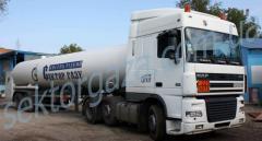 Транспортные услуги по перевозке промышленных газов и смесей, опасных грузов