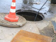 Clearing, elimination of blockages of sewer