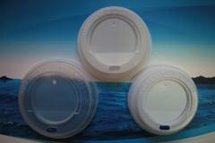 Plastic lids for paper glasses