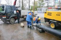 Строительство водопроводных и канализационных сетей