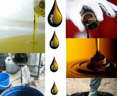 Utilization of oils, oils of the engine and