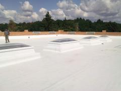 Device of a waterproofing of roofs of buildings,