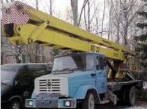 Аренда локтевой автовышки, длина стрелы 22 м, 250