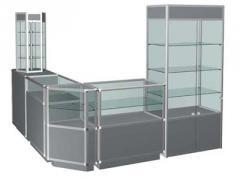 Изготовление стеллажей и витрин из алюминиевого профиля
