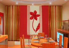 Design and tailoring of curtains, curtains in a
