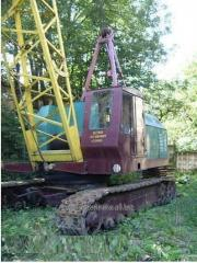 Rent of the caterpillar crane, rent of MKG, RDK,