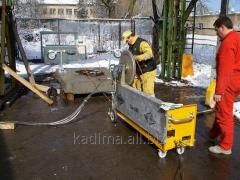 Maintenance and repair of construction equipment