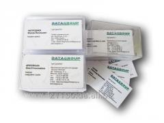 Production of business cards in Kiev, standard and