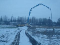 Services of the concrete pump of 36 m, Brovara