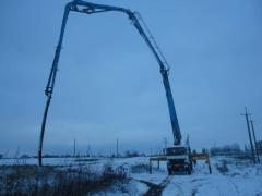 The concrete pump of 36 m under the order