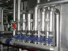 Thermal insulation of pipelines and equipmen