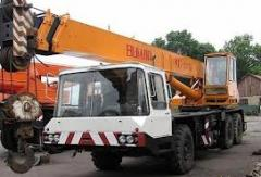 Rent of the truck crane the sentence works in Kiev