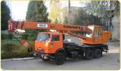 Rent of the truck crane across Kiev region