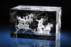 Изготовление кристаллов с лого фото текстом