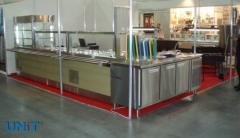 Installation of equipment for caterers, cafes, restaurants