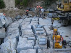 Dismantle of buildings, diamond cutting, Kiev and