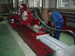 Repair of machines in the territory of the