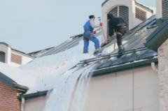 Cleaning of roofs of snow and icicles