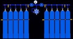Раскачивание кислорода, аргона, азота, двуокись углерода
